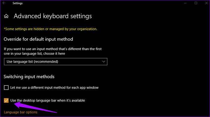 Language Bar مختفي على Windows 10 اليك الحل 7
