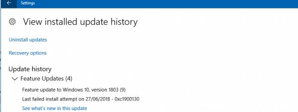 كيف تصلح خطأ تحديث الويندوز رقم 0xc1900130 1