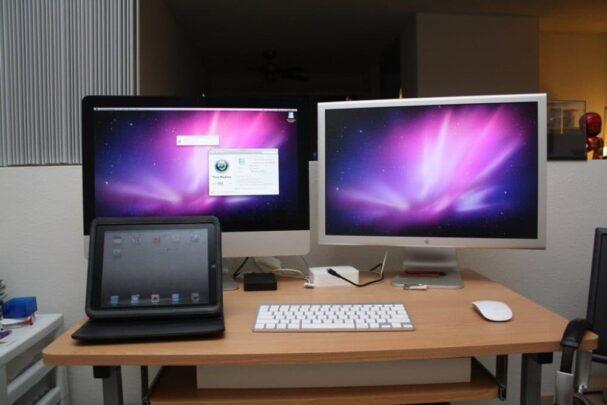 كيف تستخدم شاشتين عرض على MacOS 1