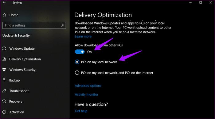 قم بتحديث نظام ويندوز Windows 10 مع سرعة إنترنت ضعيفة 3