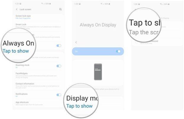 كيف تتحكم في خاصية Always on Display في Galaxy S10 3