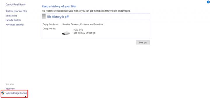 كيف تقوم بأخذ نسخة كاملة من ويندوز 10 بدون برامج طرف ثالث 3