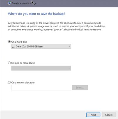 كيف تقوم بأخذ نسخة كاملة من ويندوز 10 بدون برامج طرف ثالث 5