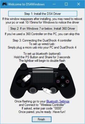إستخدام متحكم PS4 بسهولة مع ويندوز 10 2