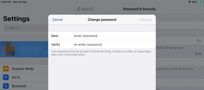 كيفية إعادة Apple ID بعد أن نسيت الرمز السري 3