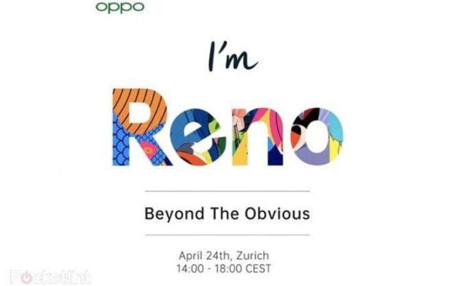 الإعلان عن Oppo Reno في 24 إبريل القادم 2