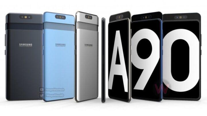 فيديو لـ Galaxy A90 يظهر الهاتف بكاميرا تدور 1