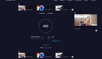 طريقة قياس سرعة الإنترنت مع مواقع مختلفة لها