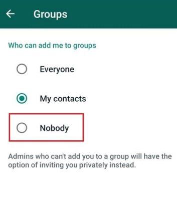 كيف تمنع إضافتك إلى جروبات Whatsapp من قبل اي شخص آخر 6