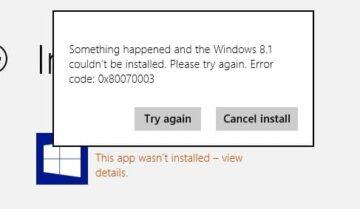 إصلاح خطأ 0x80070003 أثناء عملية تحديث ويندوز 10 5