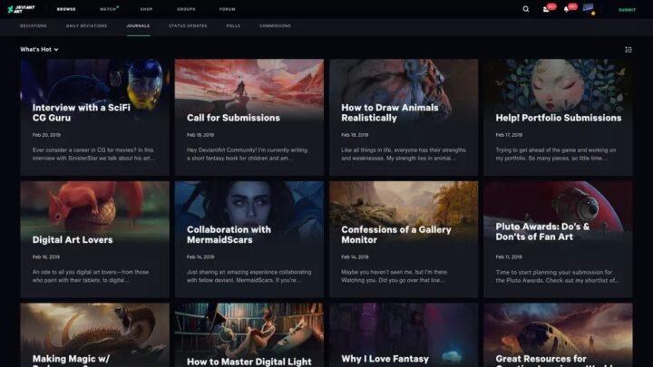 موقع DeviantArt يحصل على واجهة جديدة وشكل جديد بعد 19 عاماً 3