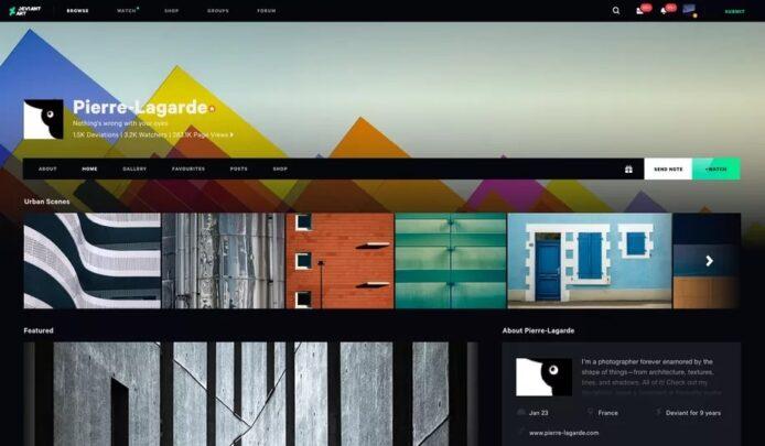 موقع DeviantArt يحصل على واجهة جديدة وشكل جديد بعد 19 عاماً 2