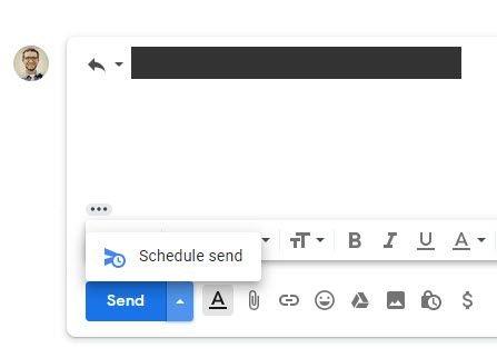 جدولة الرسائل الإلكترونية