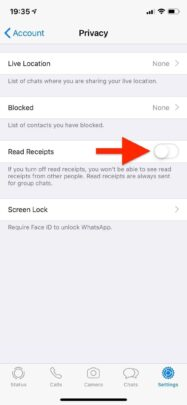 علامة قراءة الرسائل في Whatsapp