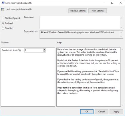 كيفية زيادة سرعة الإنترنت الخاص بك بطرق مجربة و فعالة على Windows 10 36