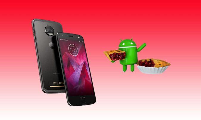 Motorola تخطئ و تعلن انها لتحدث Moto Z2 force الى Android pie 2