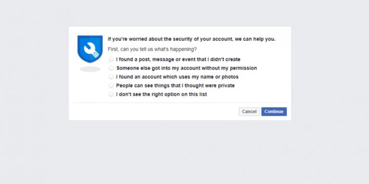 إسترجاع حساب الفيس بوك
