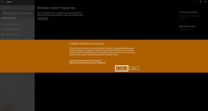 كيف تشترك في برنامج Windows Insider لتحصل على التحديثات التجريبية 8