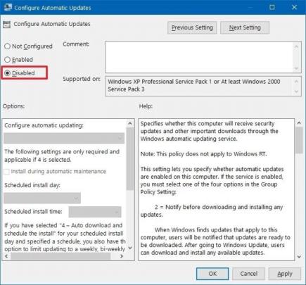 قم بإيقاف التحديثات التلقائية على Windows 10 بدون ايقاف التحديثات نفسها 4