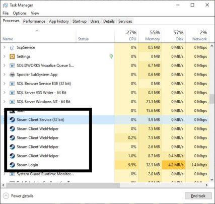 حل مشكلة تطبيق Steam لا يعمل على جهازك بنظام Windows 10 3