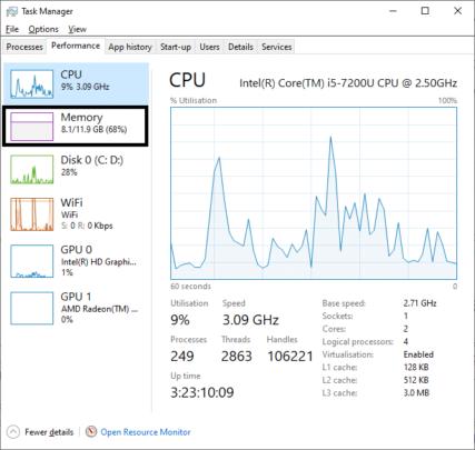 كيف تحدد عدد مداخل الـ RAM بداخل جهازك من خلال Windows 10 5