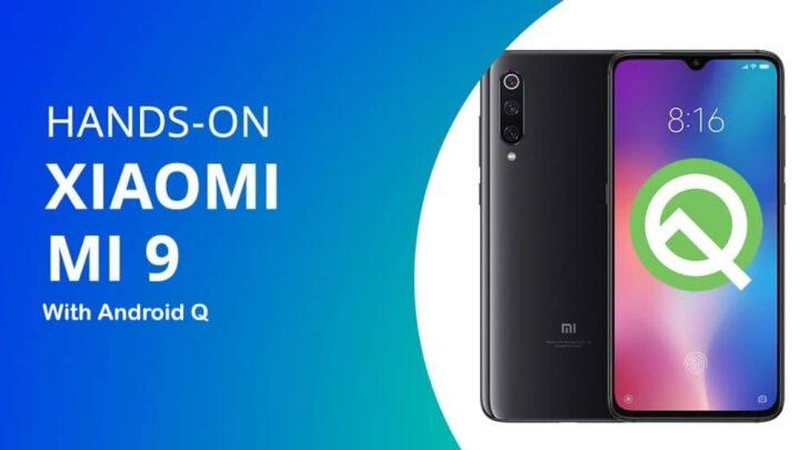 تسريب صور نظام Android Q الجديد التجريبي على هاتف Xiaomi Mi 9 1