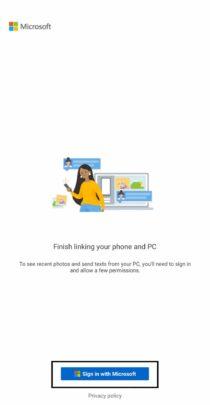 شرح تطبيق Your phone و تثبيته و كيفية استعماله على windows 10 5