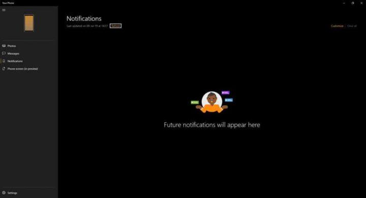 شرح تطبيق Your phone و تثبيته و كيفية استعماله على windows 10 16
