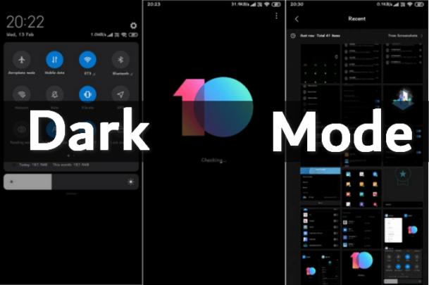فعل ميزة الوضع الليلي Dark Mode على pocophone و اجهزة Xiaomi الآن 1
