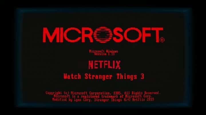 Windows 1.11 يعود في عام 2019 بمناسبة Stranger Things 2