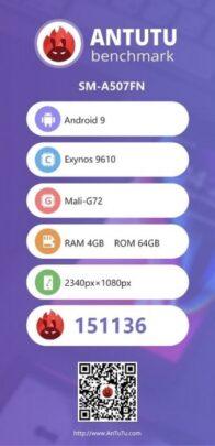 مواصفات Galaxy a50s