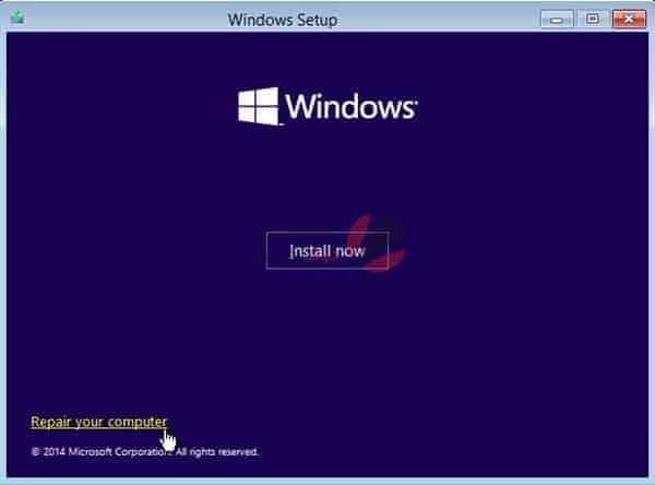 تثبيت ويندوز 10 يقف عند شاشة الترحيب وإدخال البيانات 1