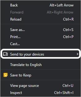 Chrome يتيح لك الآن ارسال الصفحات المفتوحة بين اجهزتك المختلفة 2