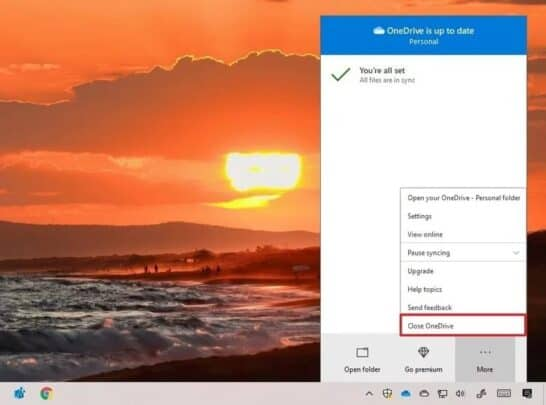 قم بإصلاح مزامنة OneDrive مع Windows 10 2
