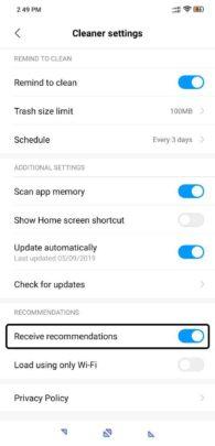 كيف تتخلص من اعلانات واجهة Miui على اجهزة Xiaomi نهائياً 4
