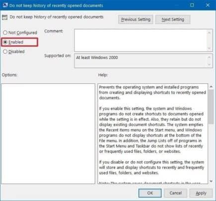 كيف تقوم بإلغاء عرض الملفات الحديثة في قوائم التطبيقات على Windows 10 3