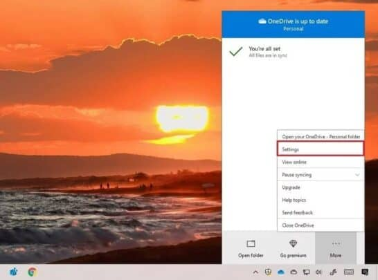 قم بإصلاح مزامنة OneDrive مع Windows 10 3