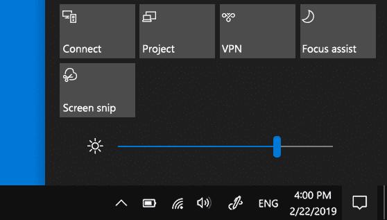 كيفية حل مشكلة ان سطوع الشاشة لا يتغير على Windows 10 1