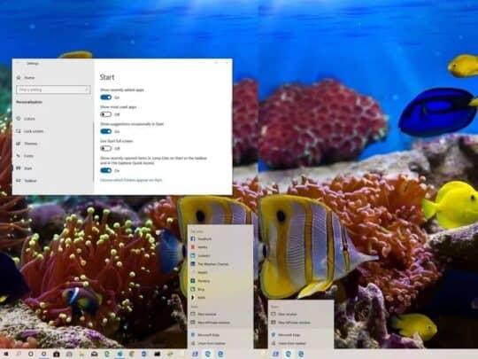 الغاء عرض الملفات و البيانات الحديثة على Windows 10 Jump List