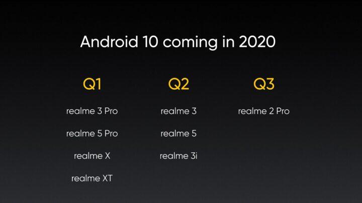 متى ستحصل اجهزة Realme على تحديث Android 10 2