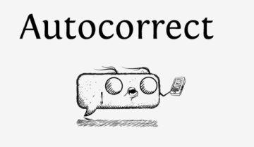 خاصية Auto correct
