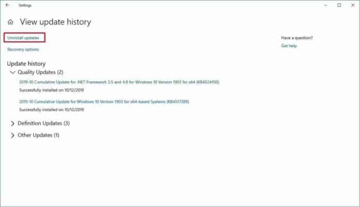 حل مشكلة قائمة Start لا تعمل بعد تحديث ويندوز KB4517389 3