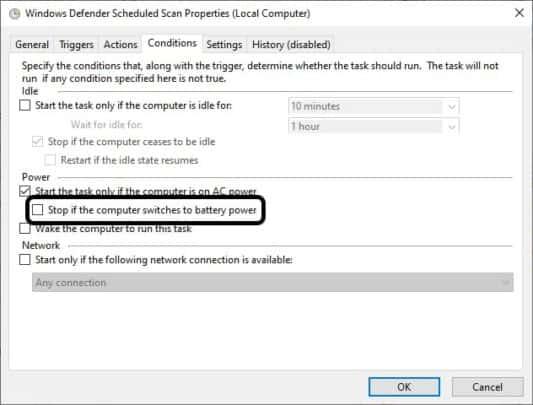جدول مواعيد تشغيل Windows Defender على ويندوز 10 10
