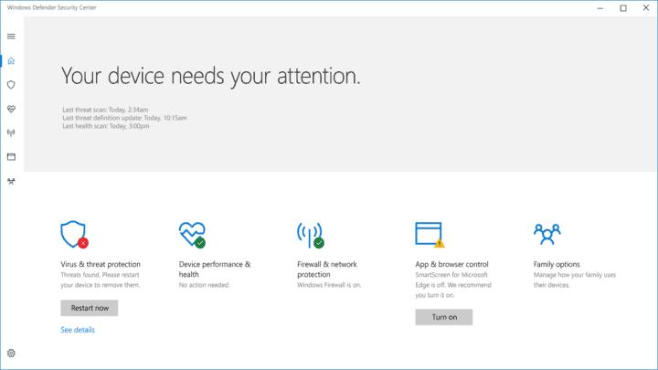 جدول مواعيد تشغيل Windows Defender على ويندوز 10 1