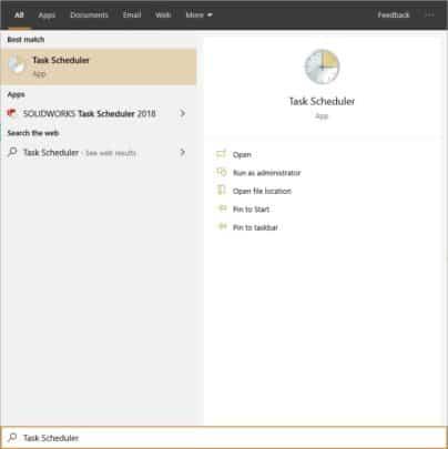 جدول مواعيد تشغيل Windows Defender على ويندوز 10 2