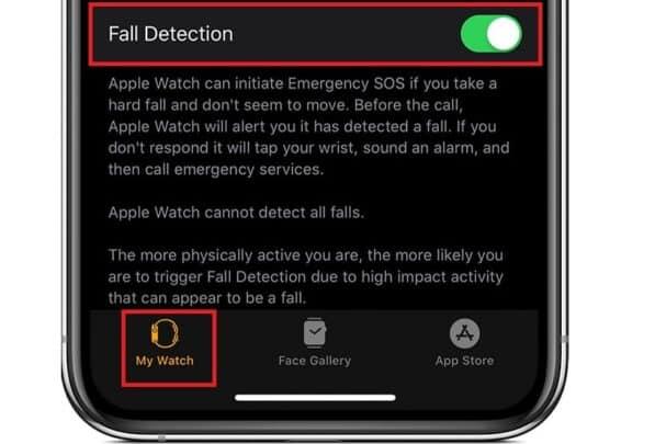 ساعة Apple Watch وميزة لإستشعار السقوط والإتصال بجهات الطوارئ 1