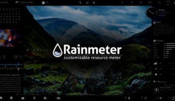 برنامج Rainmeter كتابة جملة خاصة على سطح المكتب في ويندوز 10 1