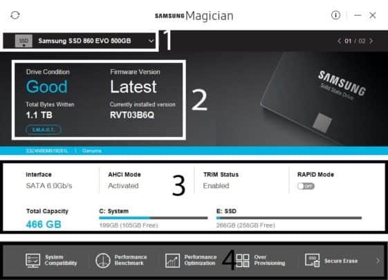 تطبيق Samsung Magician يساعدك على تنظيم و متابعة الـSSD الخاص بك 2