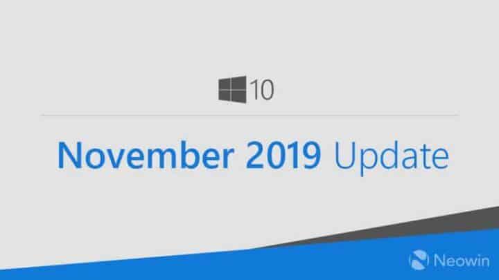 تحديث نوفمبر لويندوز 10