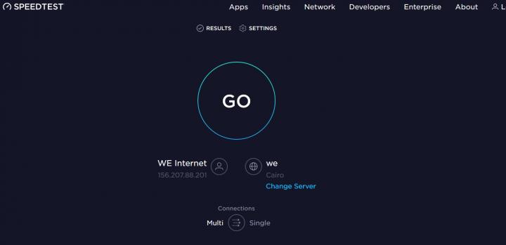 قياس سرعة الإنترنت Speed Test